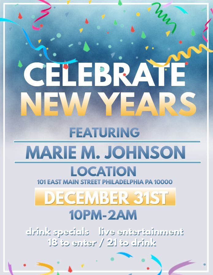 new years celebration flyer template