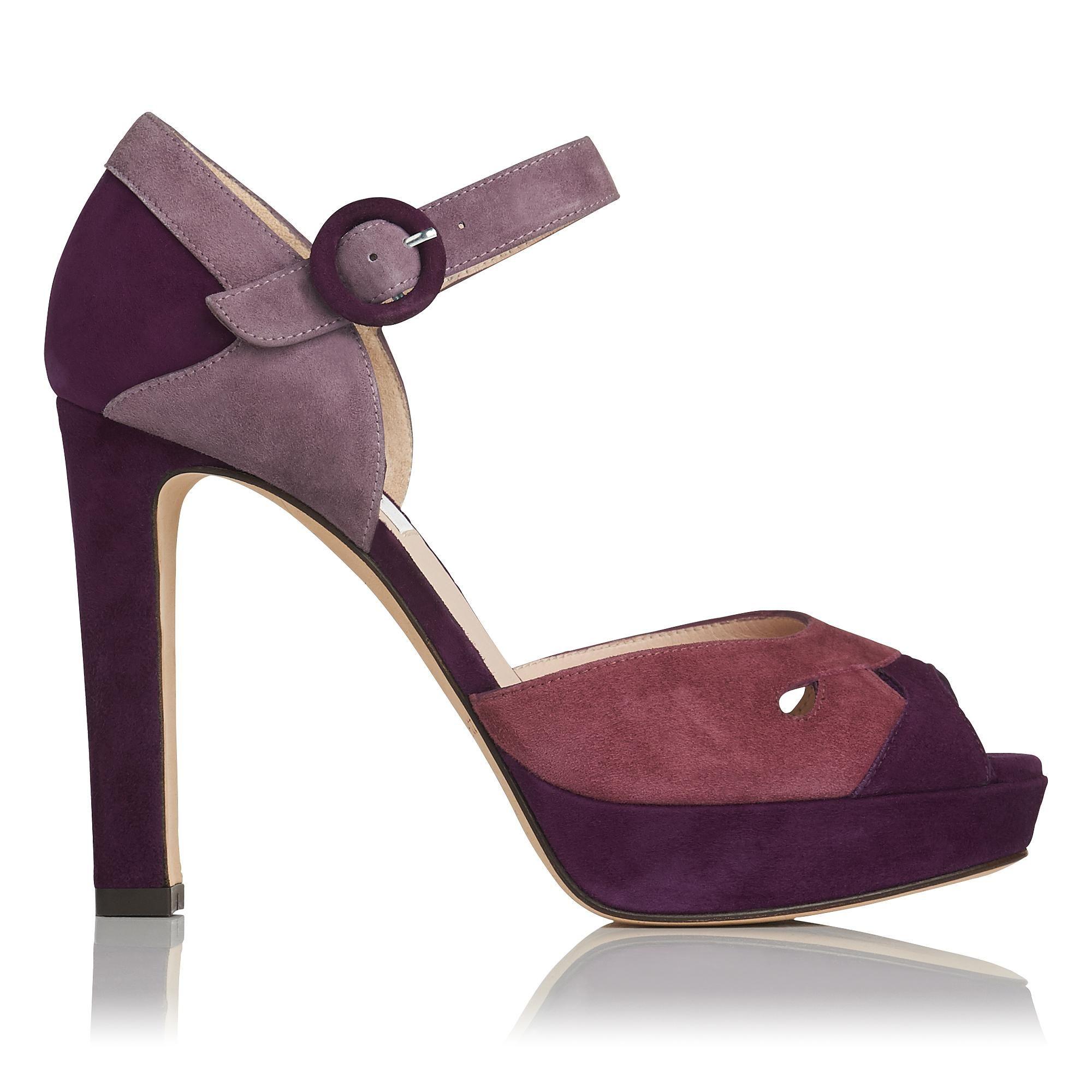 Eli Raisin Pink Suede Formal Sandals | L.K.Bennett, London