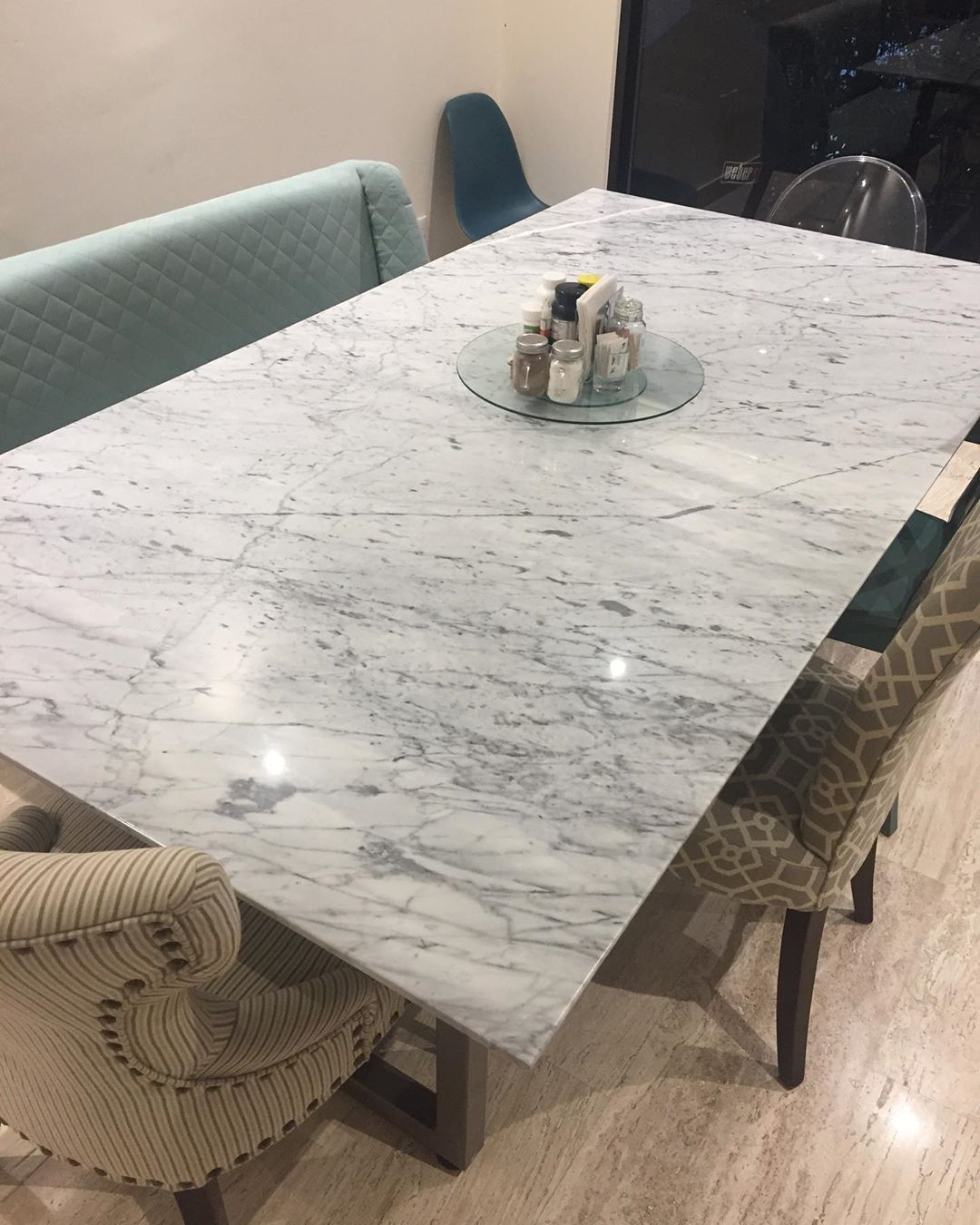 122 Me Gusta 1 Comentarios Marmol Gurza Marmolgurza En Instagram Mesa De Marmol Blanco Carrara 2 10x1 10 Marmol M Dining Table Decor Home Decor