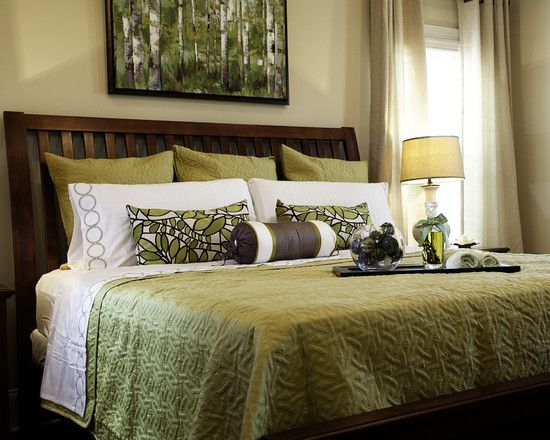 Green And Brown Bedroom Ideas Design, Pictures, Remodel