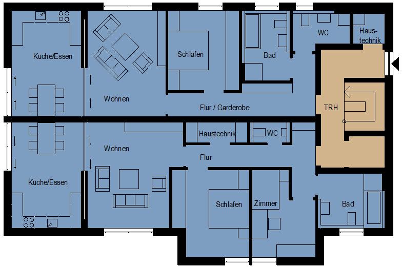 Treppenhaus mit aufzug grundriss  Erdgeschosswohnungen mit Treppenhaus und Aufzug ca. 106 m² und ...