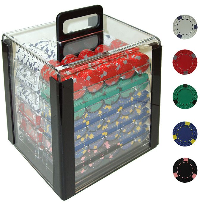 1000 Poker Chip Acrylic Fill Carrier