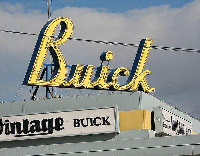 Vintage Buick Sign Madera California Buick Vintage Signs