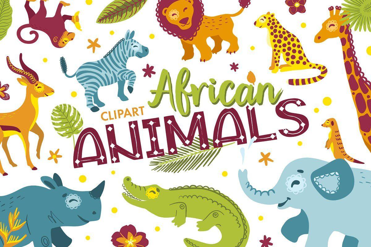 Tropical Alphabet Cartoon Animals African Animals Cartoon Clip Art Animals Clipart