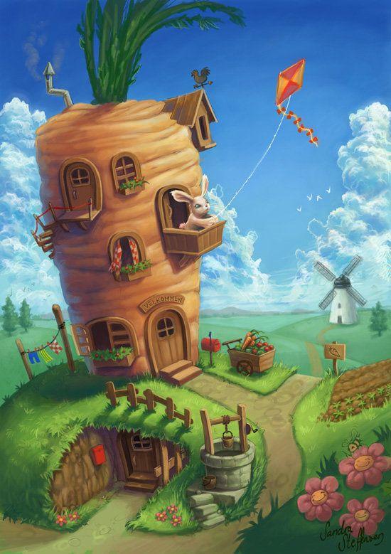 Bunny Dream House by Sandra Steffensen | Illustrasies ...