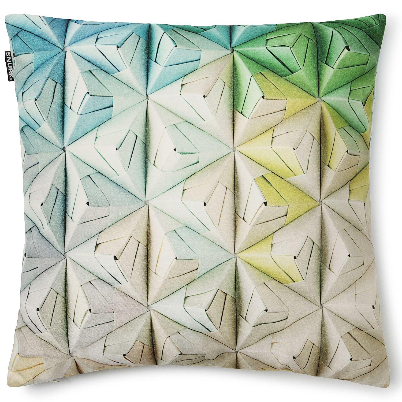 Geogami Cushion by snurkbeddengoed.nl #Cushion #Origami