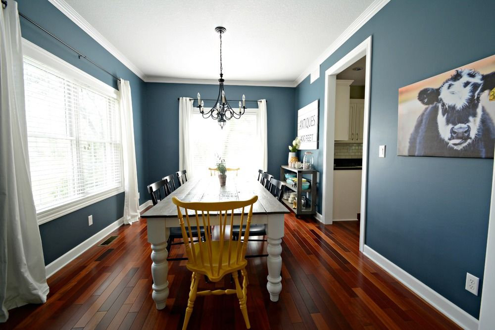 Then And Now Dining Room Dining Room Paint Dining Room Blue Dining Room Colors
