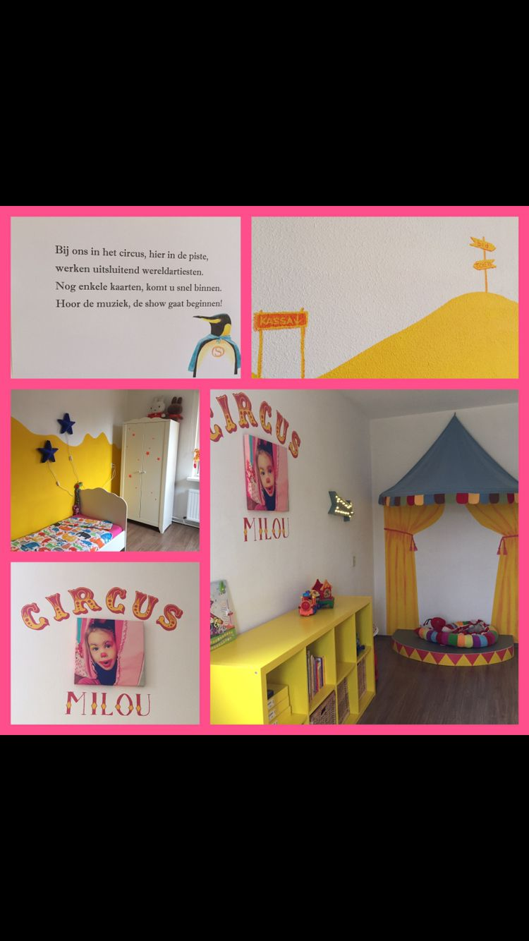 Kids room circus theme with actual stage! Kids loved it ...