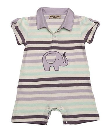 Loving this Brown Stripe Elephant Romper - Infant on #zulily! #zulilyfinds