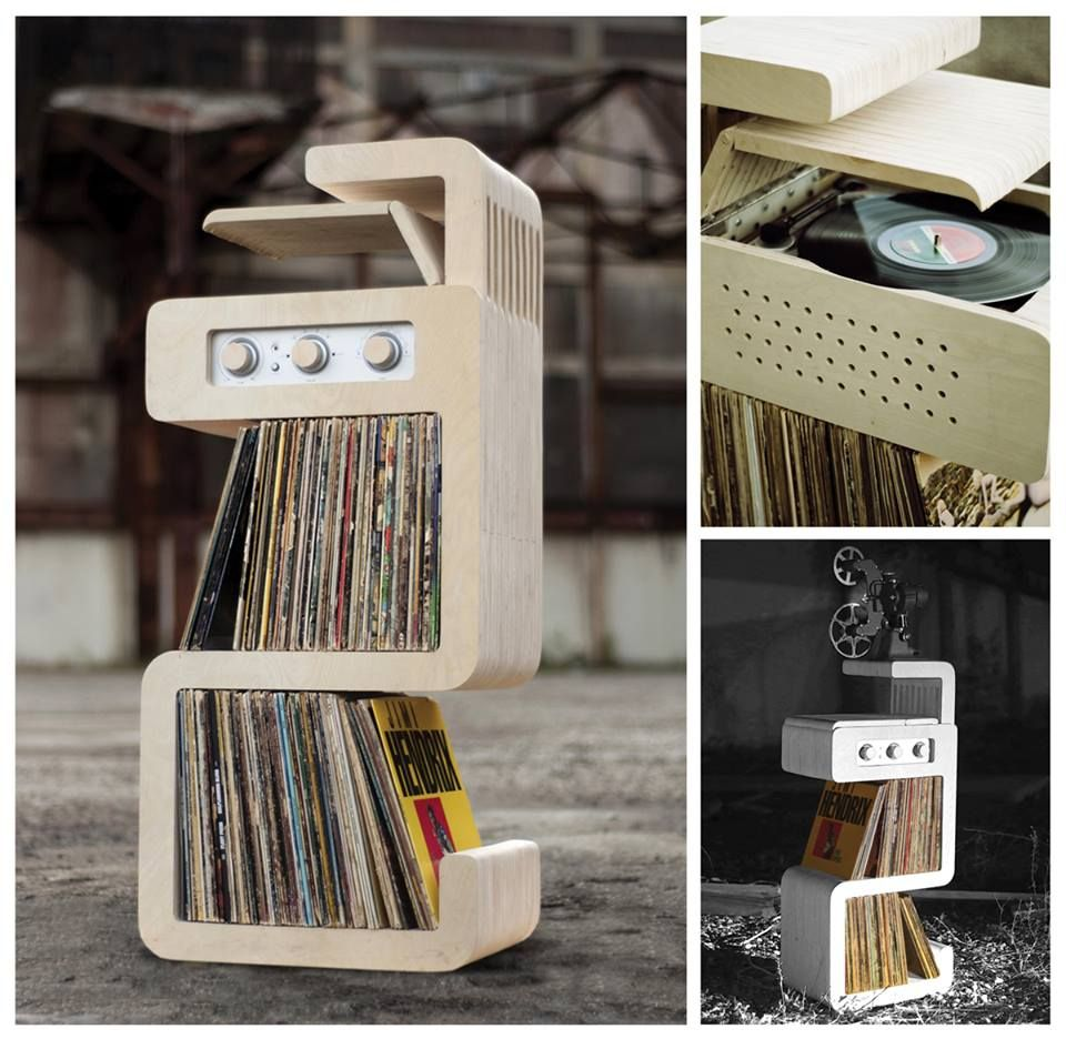 Fabulous Turntable Record Storage Unit Model Unknown
