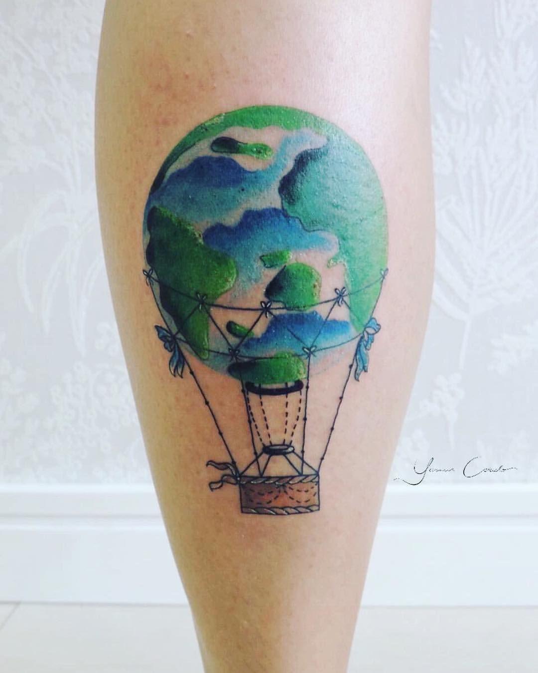 Idea By Marian Boys On Balloon Tattoo Balloon Tattoo Delicate