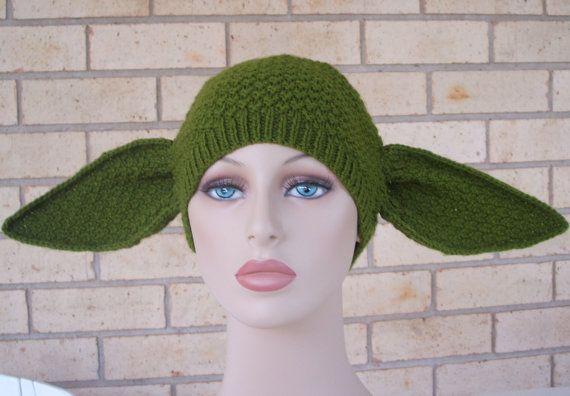 Yoda Ears Hat Knitting Pattern Crochet