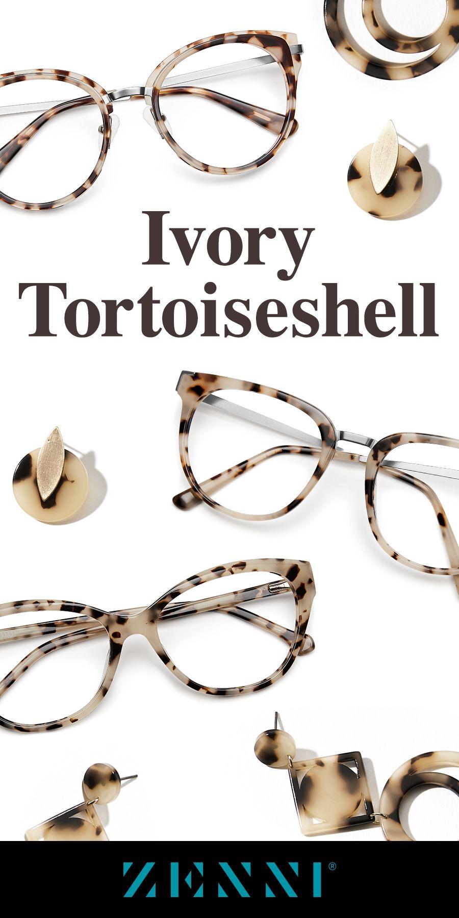 Ivory Tortoiseshell Frames