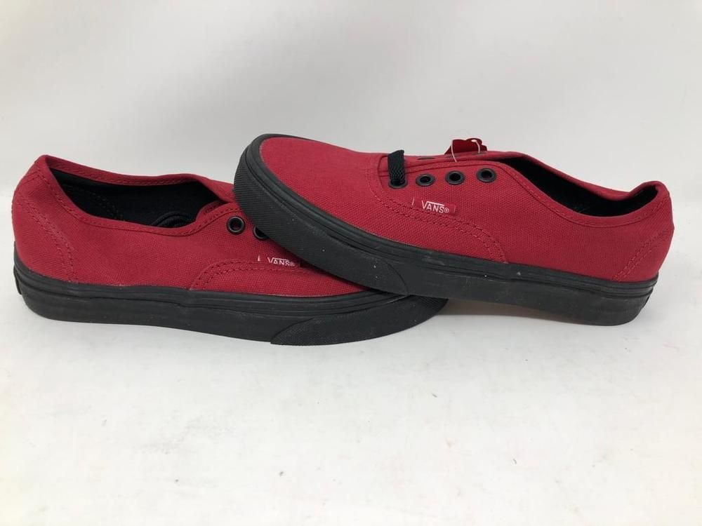 bc918dcc4b06d0 VANS AUTHENTIC BLACK SOLE JESTER RED ATHLETIC SKATE CASUAL MEN 4 WOMENS 5.5  NWOB  fashion