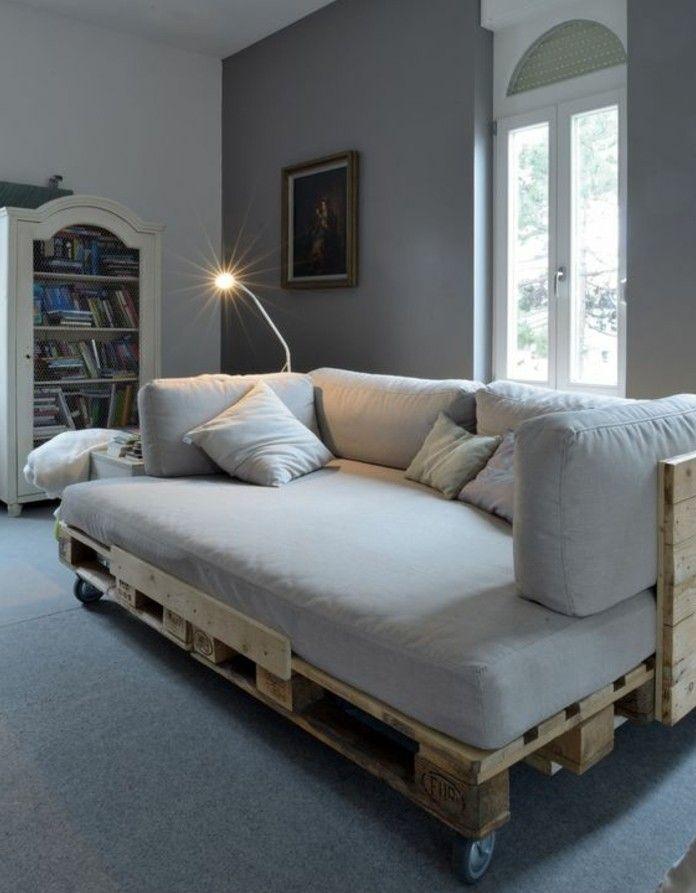 Populaire Comment fabriquer un canapé en palette - tuto et 60 super idées  EC23