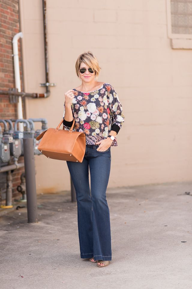 blouse (The Odells c/o Omar + Elsie see DRESS VERSION ), flares (MAJ, see similars HERE & HERE), heels (Joie), bag (Clare V c/o Omar + Elsie), rings (BCBG, Anna Beck), shades (Ray Ban) I mean have I sold y'all yet on FLARES?  Hells, I've worn the heck outta them (see HERE, HERE, & HERE), so if I haven't convinced you yet, I'm a horrible …