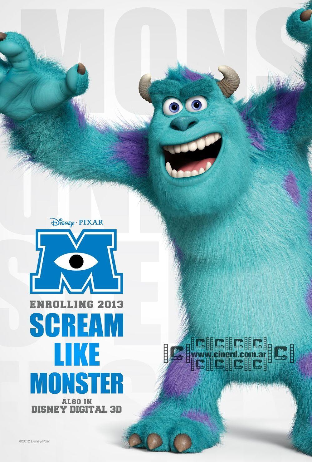 James P Sullivan Monster University Monster Inc Birthday Monster Co