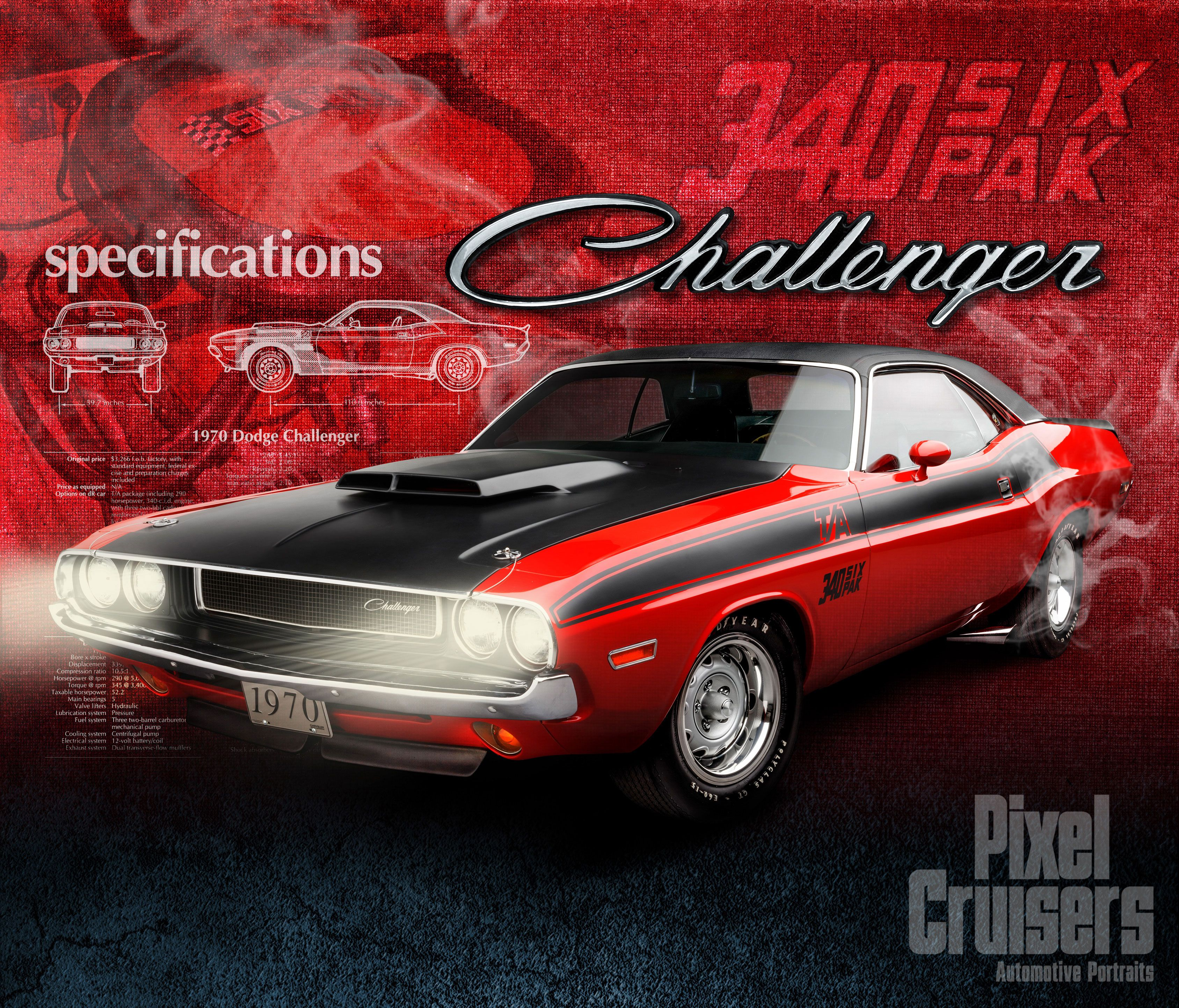 "Dodge Challenger ""American Muscle"" calendar page from the 2016 O"