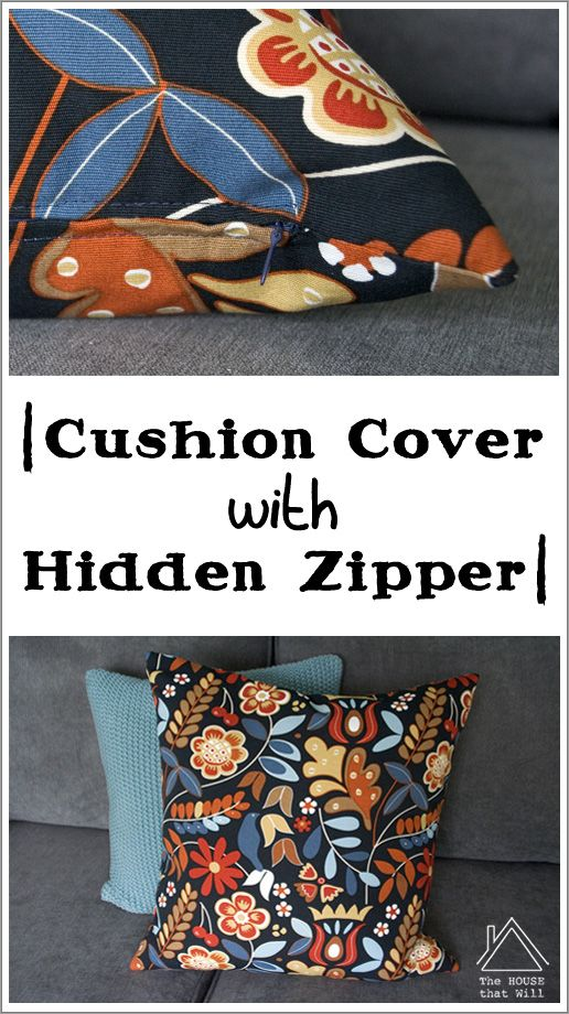 The House that Will | DIY Cushion Cover Throw Pillow with Hidden Zipper How To Sewing
