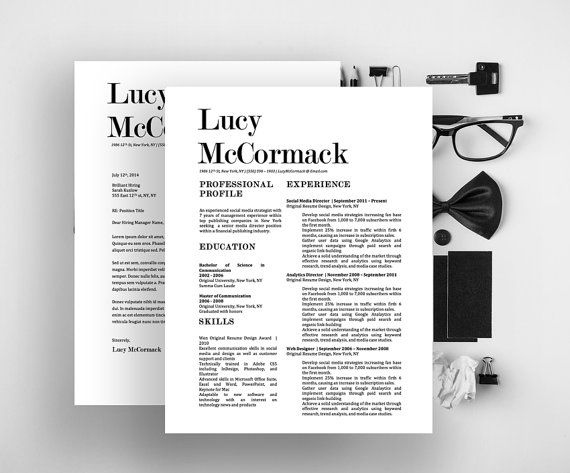 Lucy Mccormack Resume  Cover Letter Fancy Template For Microsoft