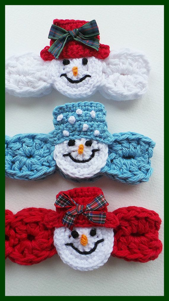 CROCHET HEADBAND PATTERN Snowman headband by KerryJayneDesigns ...