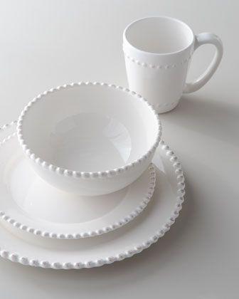 16-Piece Bianca Beaded-Edge Dinnerware & Bianca\