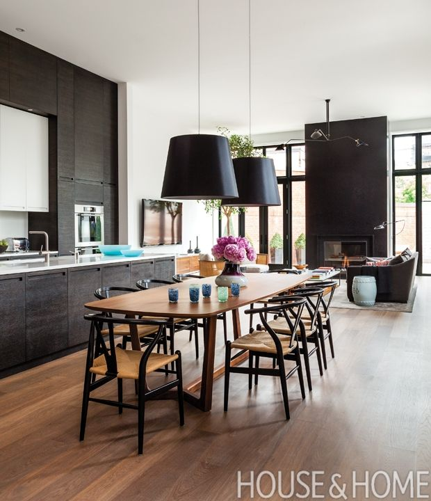 30 Fresh Functional Eat In Kitchens Home Open Concept Kitchen Livingroom Layout Dining room appealing black kitchen