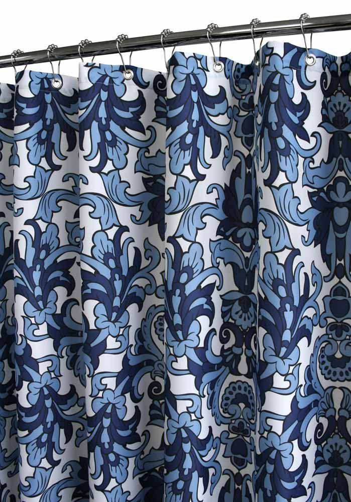 Amazon Park B Smith Rococo Scroll Watershed Shower Curtain Porcelain Blue White Home Kitchen