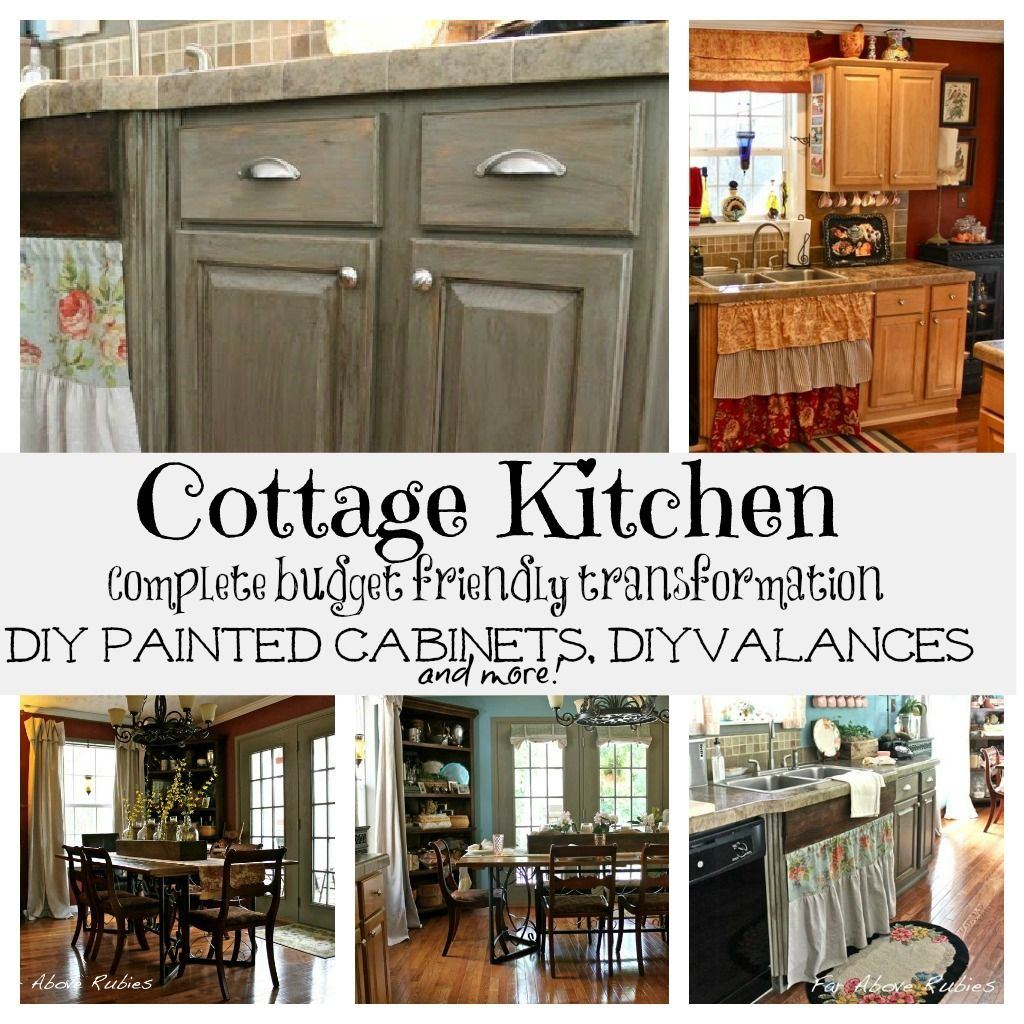 Cottage kitchen makeover painted kitchen cabinets - Kitchen cabinet diy makeover ...