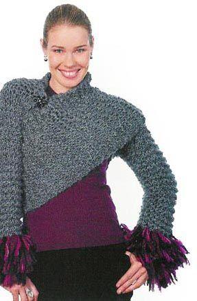Handmade-Knitting-Crochet-Bridal-Shawl-Wedding-Shrug-Bolero ...