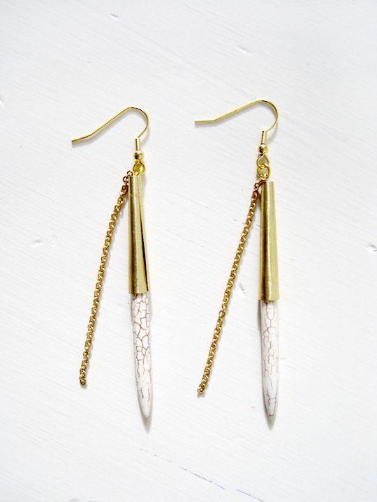 tough & tender earrings. swoon. $32