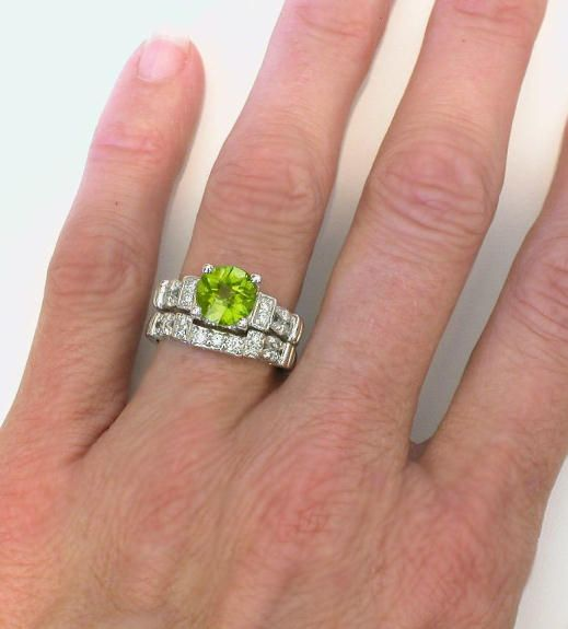 peridot wedding rings - Peridot Wedding Rings