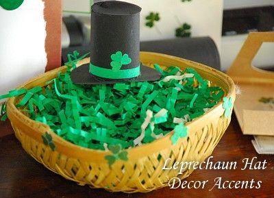 Leprechaun Hats Decorative Accents - DIY St. Patrick's Day Decorating Idea