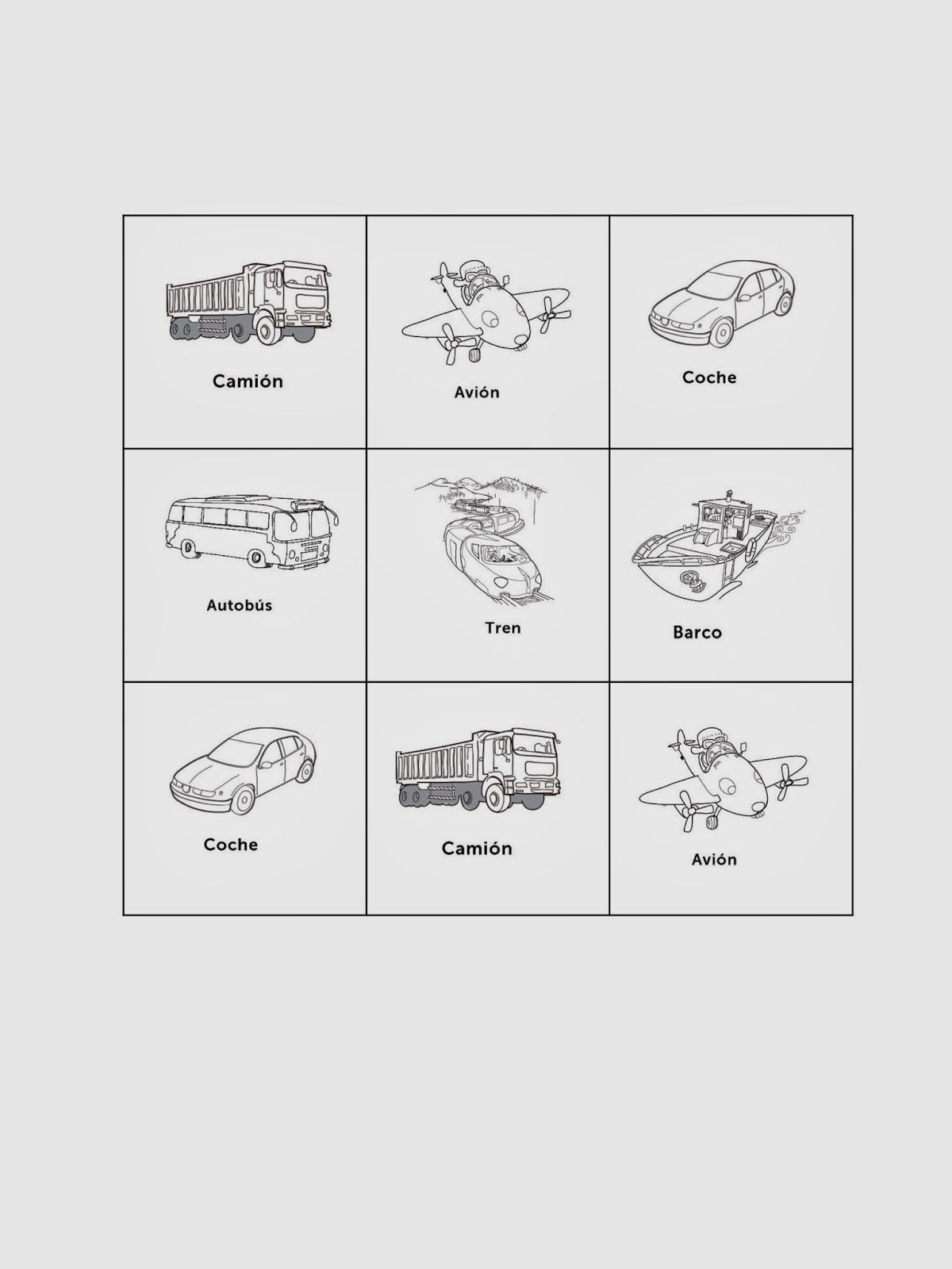 Modes Transportation In Spanish Class