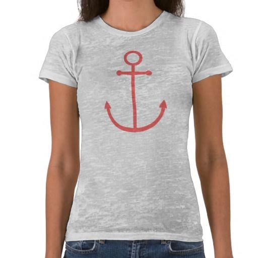 Coral Cute Preppy Nautical Anchor Tee Shirts