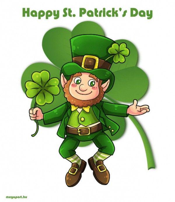 Happy St Patrick S Day Animated Gif Ecard St Patricks Day Clipart Leprechaun Clipart Saint Patricks Day Art