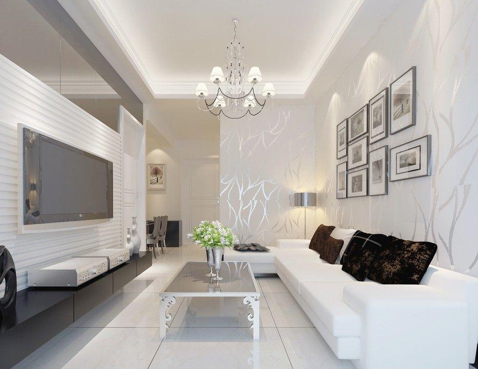 Trendy Pop False Ceiling Design Ideas For Living Room Decorations This For All House Furniture Design Modern White Living Room Rectangular Living Rooms #white #living #room #accessories