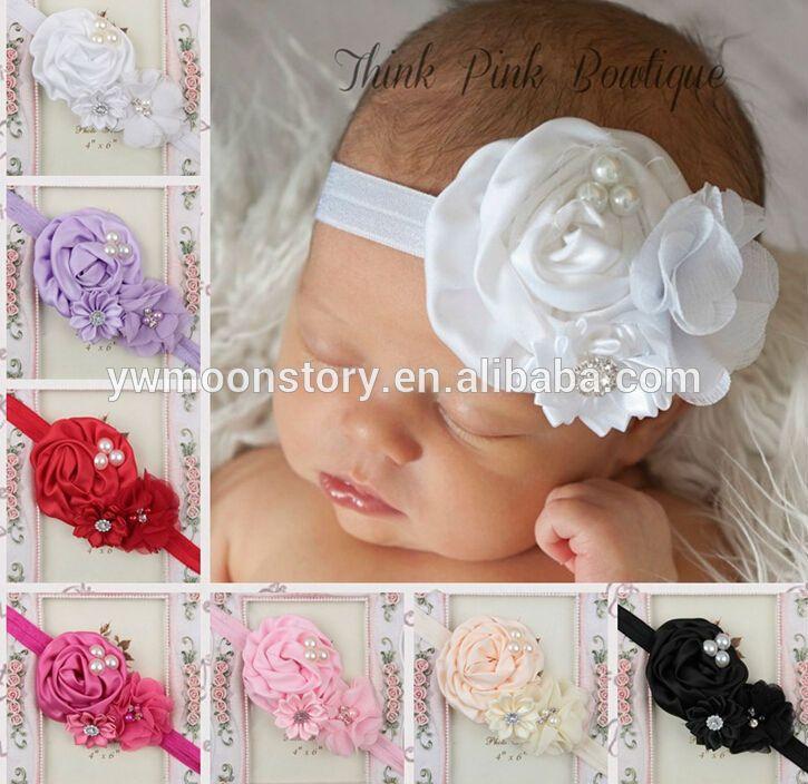 Bebé Niñas Niño Suave Elástico Diadema Encaje /& Perla Arco Pelo Banda Cabeza Desgaste