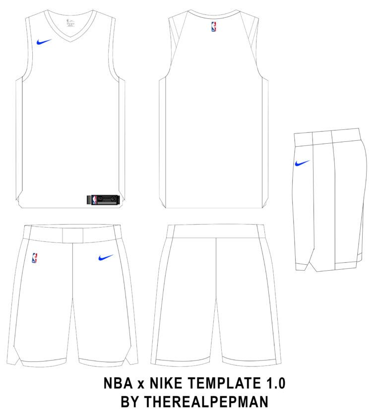 Download Therealpepman S Nike X Nba Template Concepts Chris Throughout Blank Basketball Uniform Te Sports Jersey Design Basketball Uniforms Design Basketball Design
