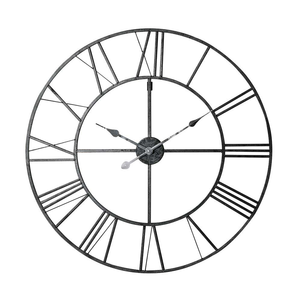 Metal Clock In Black D80 Laser Metal Clock Clock Large