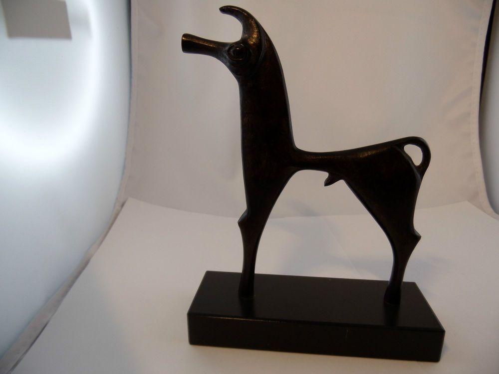 Bronze Figur Pferd Etruskisch Kunst höhe 18,5cm