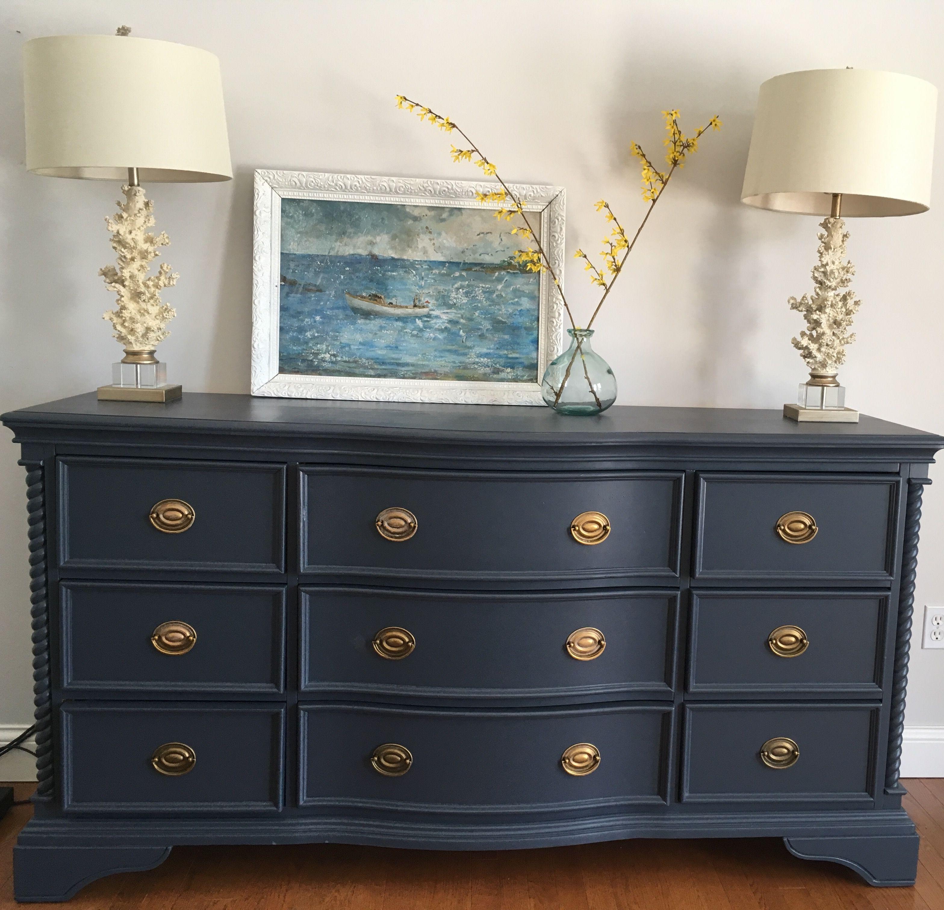 Hale Navy Painted Dresser Repainting Bedroom Furniture Navy
