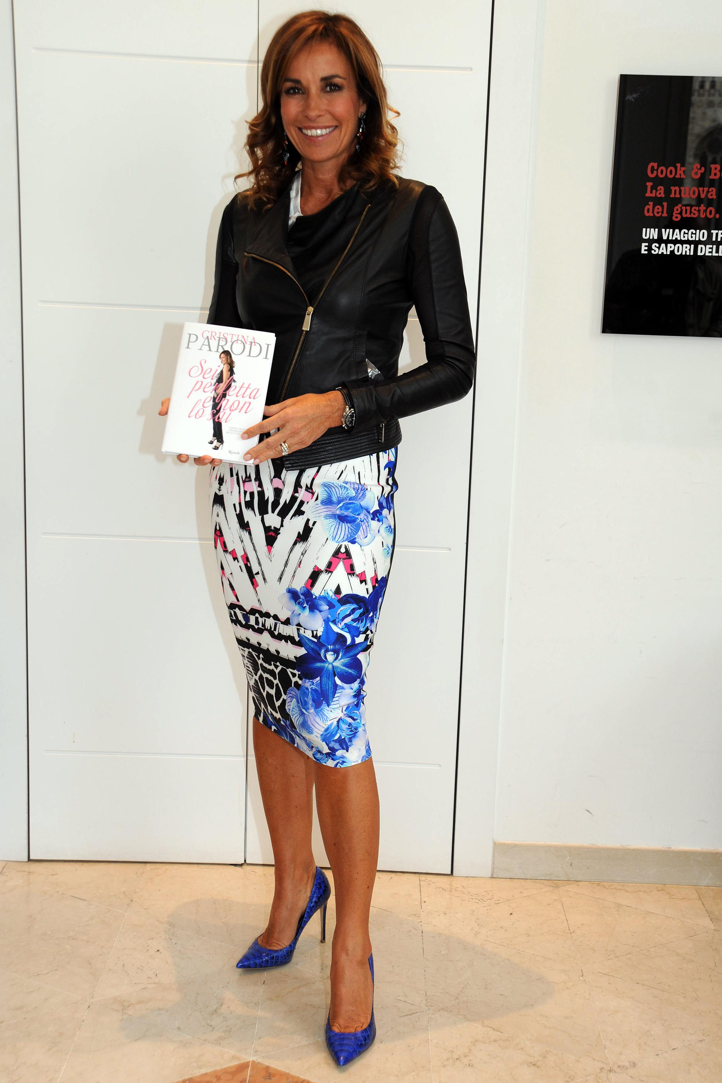 Cristina Parodi wearing #lesilla. The pump is available on e-boutique at  this