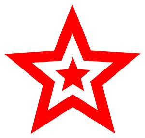 red star in star clipart ink ideas unlikely tattoo inspiration rh pinterest co uk red star clipart red christmas star clipart