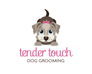 Tender Touch Dog Grooming Logo Design | Graphic Design ...