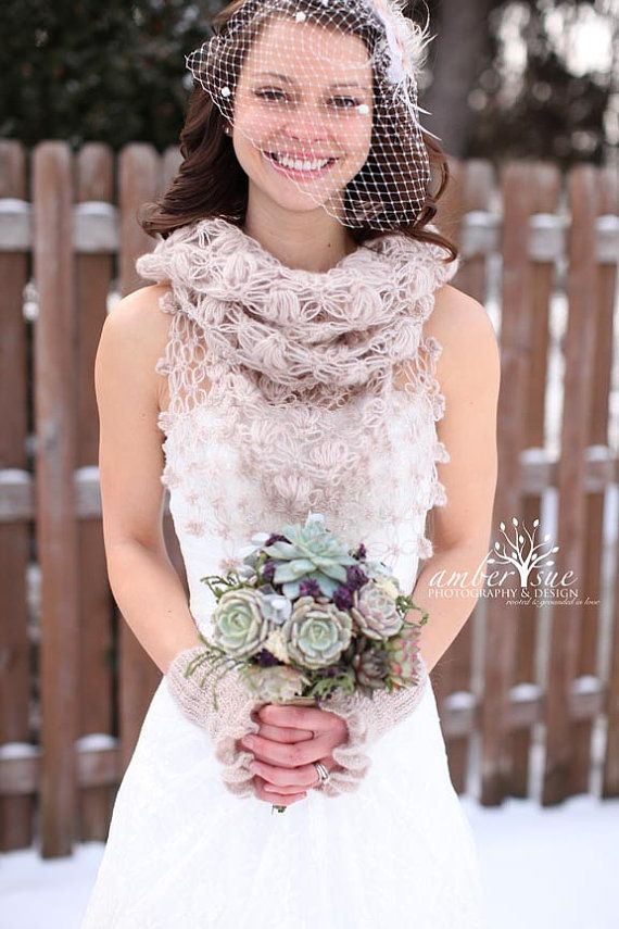 Bridal Shrug And Bolero Shawl Cover Up Winter Wedding Accessories