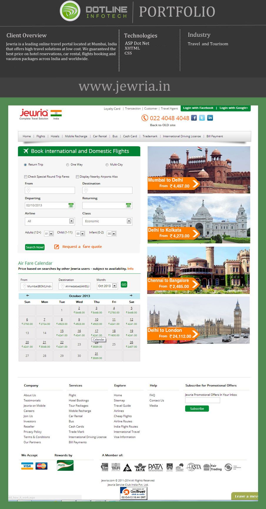 Jewria a leading online travel portal offers high travel