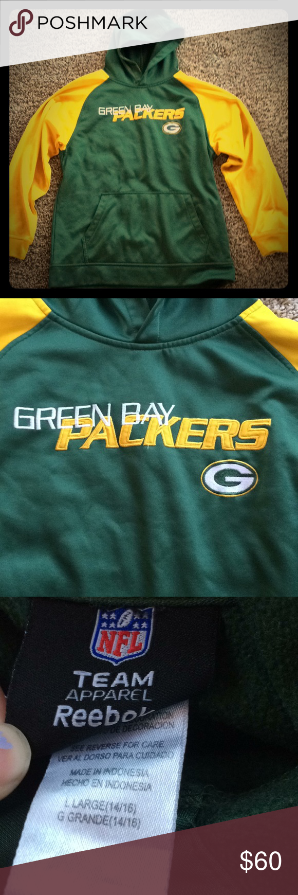 b6d049fa Green Bay packers hoodie Green Bay packers hoodie. Used. Size youth ...