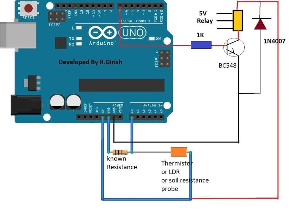Astounding Simple Arduino Digital Ohmmeter Circuit Homemade Circuit Projects Wiring Cloud Hisonuggs Outletorg