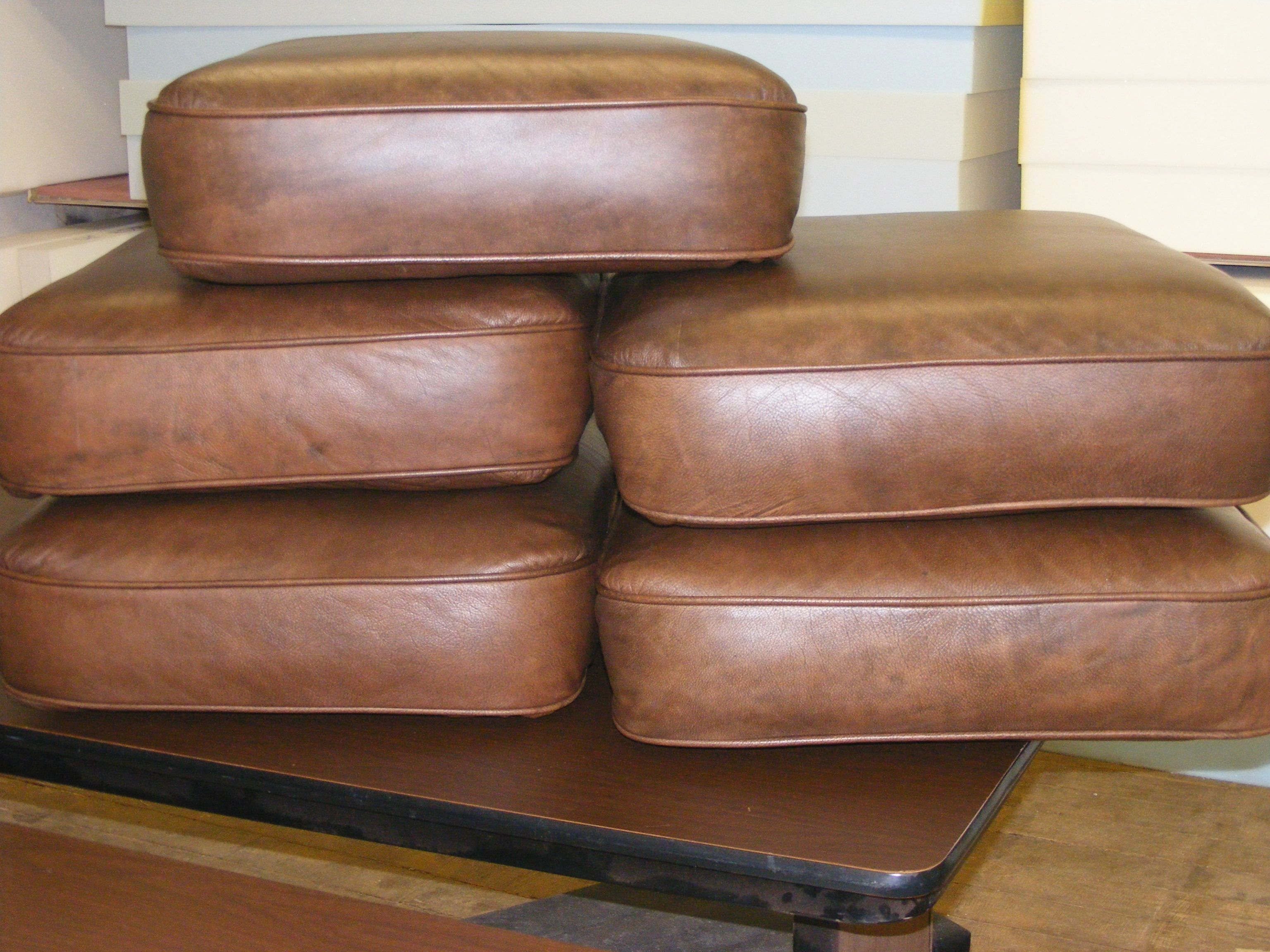 how to repair leather couch cushions
